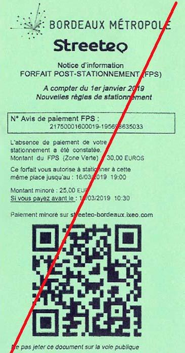 fausse notice paiement FPS Bordeaux